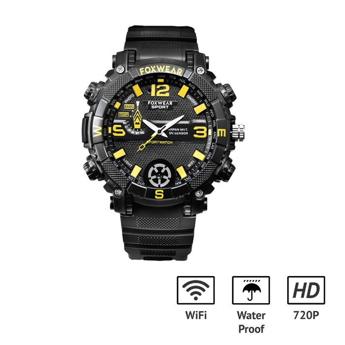 720p HD Waterproof Hidden Camera Watch Video Recorder