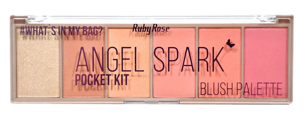 Paleta De Blush Pocket Angel Spark By Ruby Rose