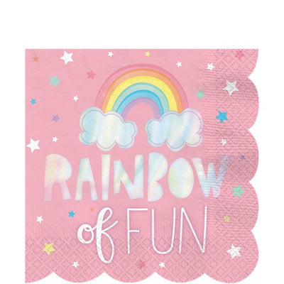 Magical Rainbow Paper Party Napkins