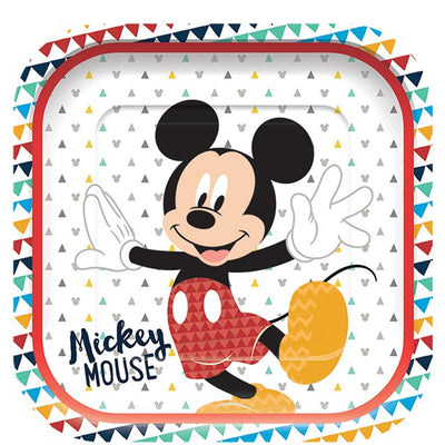Mickey Awesome Square Paper Plates