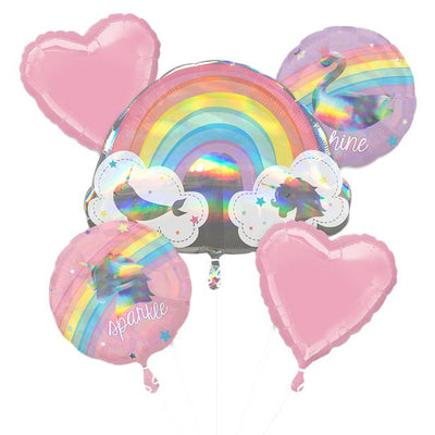 Magical Rainbow Balloon Bouquet - Assorted Foils