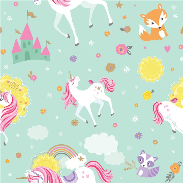 Magical Unicorn Wrapping Paper Roll - 1.5m
