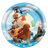 Pirate Treasure Large Paper Party Plates