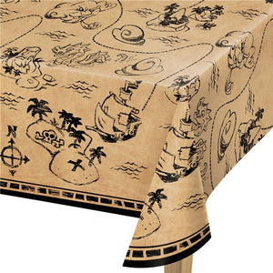 Pirate Treasure Plastic Tablecover