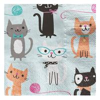 Purr-fect Party Paper Cocktail Napkins