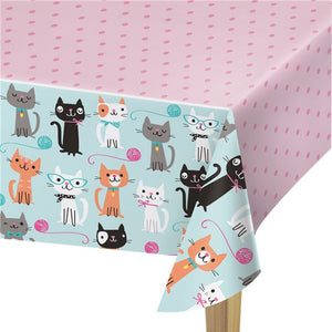 Purr-fect Party Plastic Tablecover