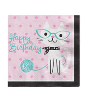 Purr-fect Party 'Happy Birthday' Paper Napkins
