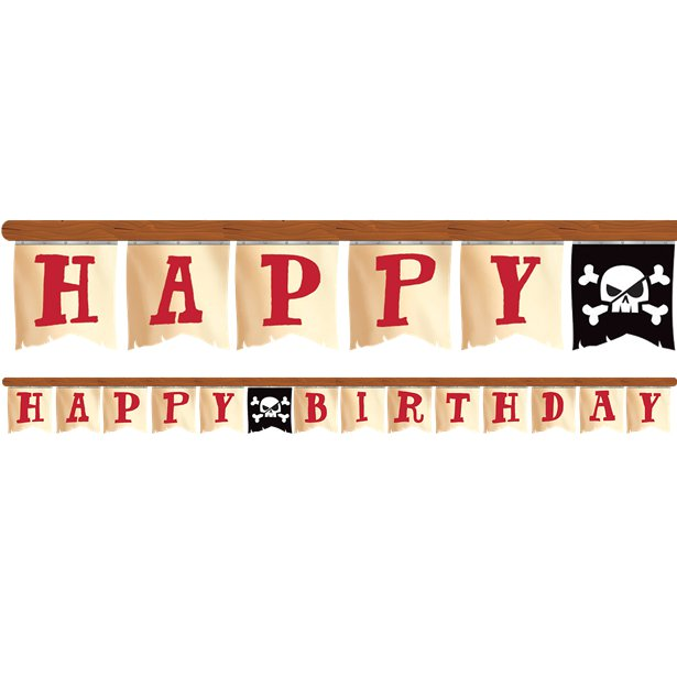 Pirate Treasure 'Happy Birthday' Banner