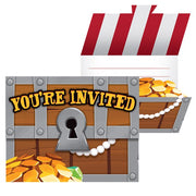 Pirate Treasure Party Invitations - Including Envelopes