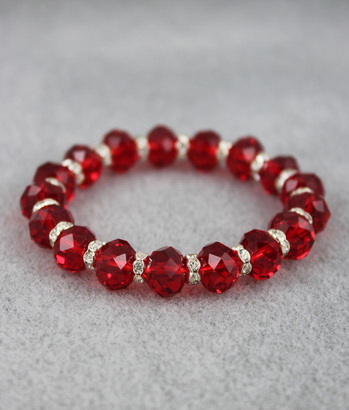 Viennese Crystal Luxe Bracelet (Ruby Red)