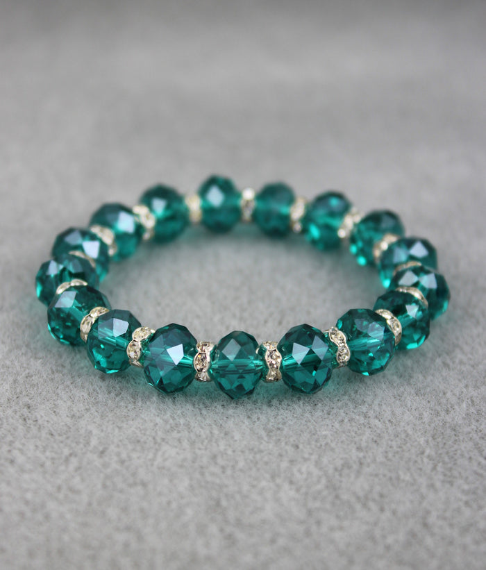 Viennese Crystal Luxe Bracelet (Emerald)