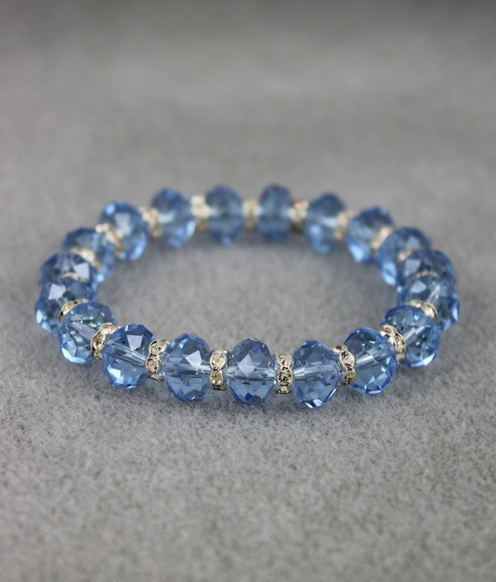 Viennese Crystal Luxe Bracelet (Baby Blue)