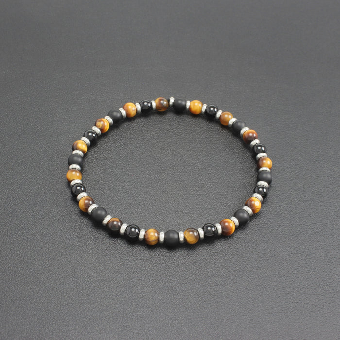 Mens | Slim Onyx, Matte Onyx & Tigers Eye Bracelet