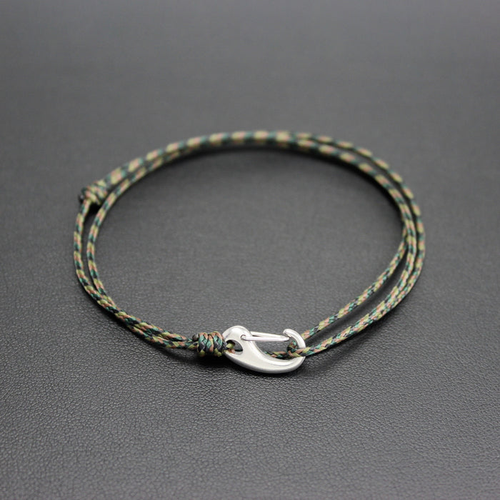 Mens | Micro Cord Adjustable Bracelet in Camo