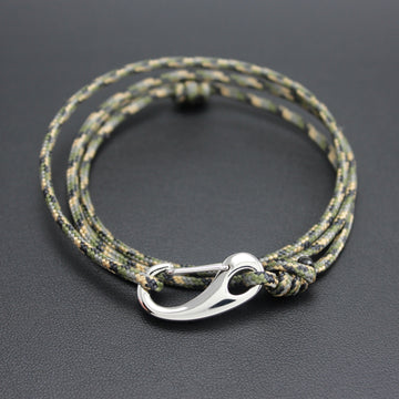 Mens | Tactical Cord & Stainless Steel Bracelet in Camo