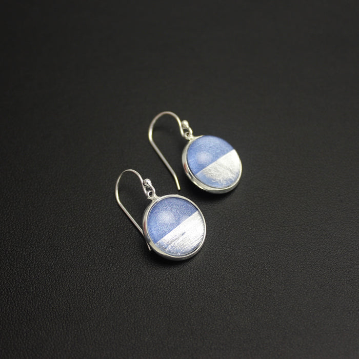 Samba Silver Linings Drop Earrings (Silver & Baby Blue)