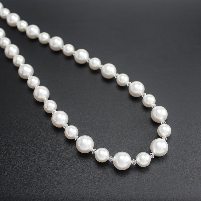 Classical Swarovski Crystal White Pearl 8/10mm Necklace