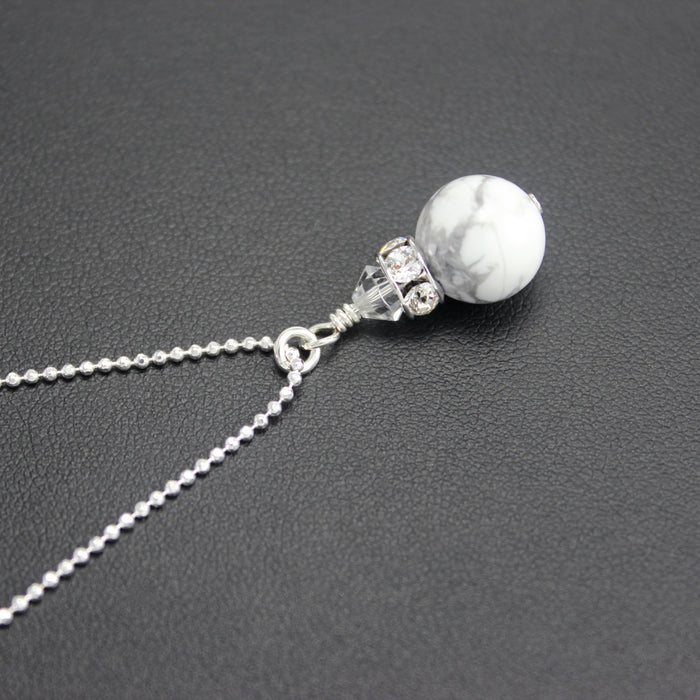Classical Petite Luxe Necklace (White Howlite)