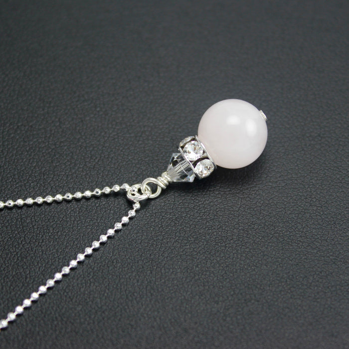Classical Petite Luxe Necklace (Rose Quartz)