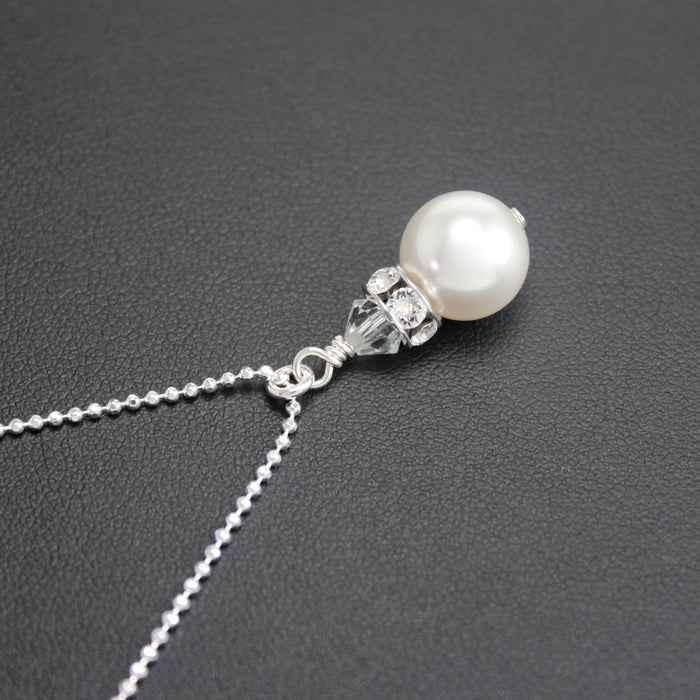Classical Petite Luxe Necklace in (White Pearl)