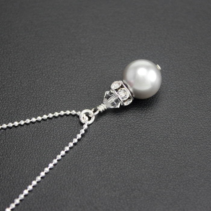 Classical Petite Luxe Necklace (Silver Pearl)