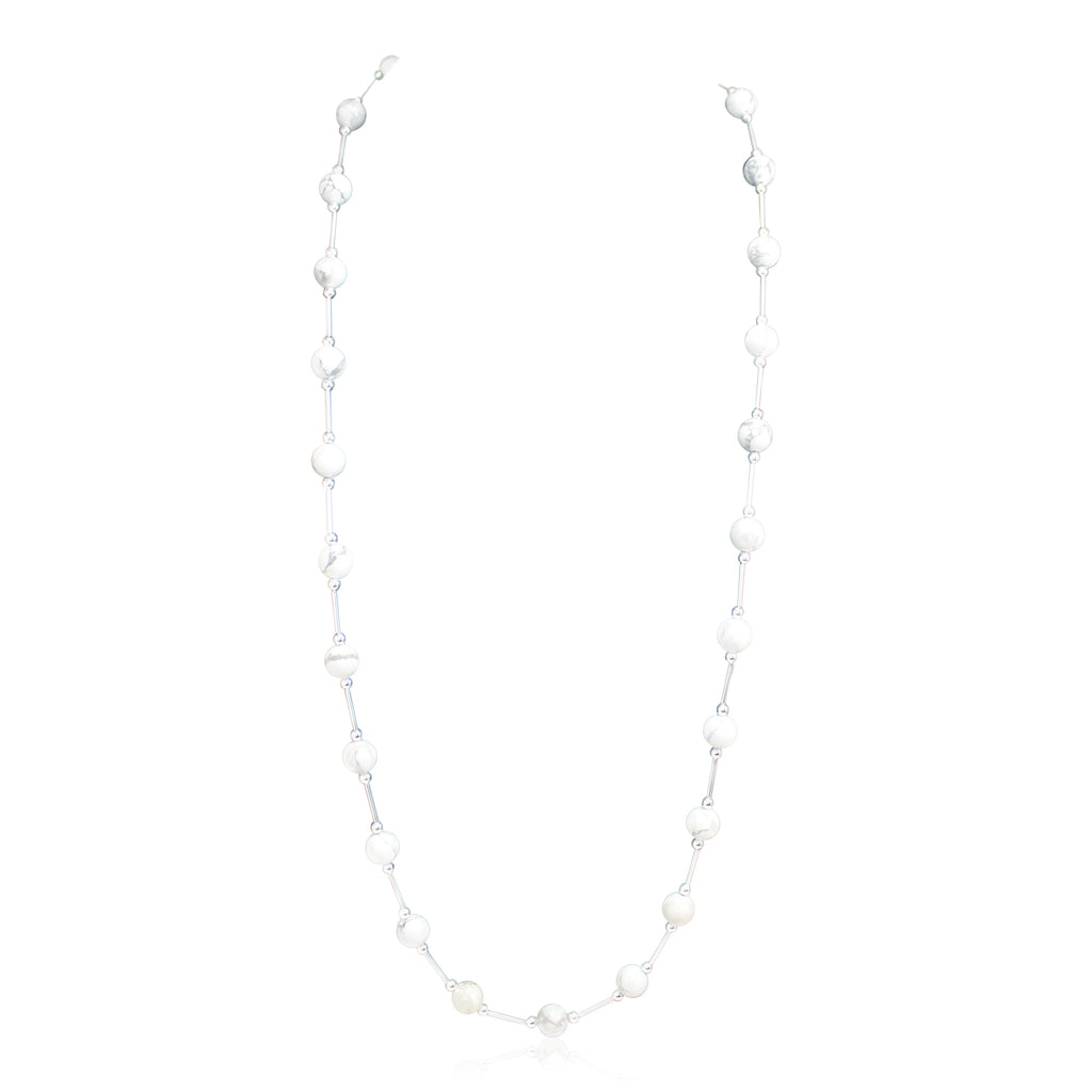 Vogue Marble Howlite Long Neckace
