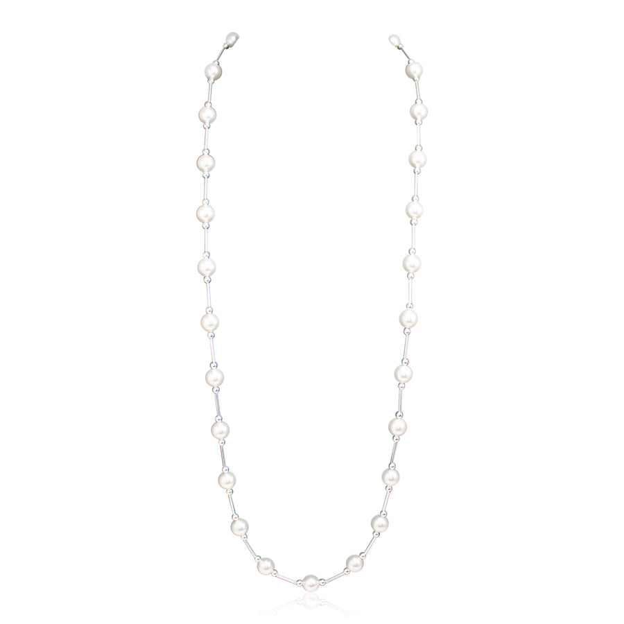 Vogue White Pearl Long Neckace