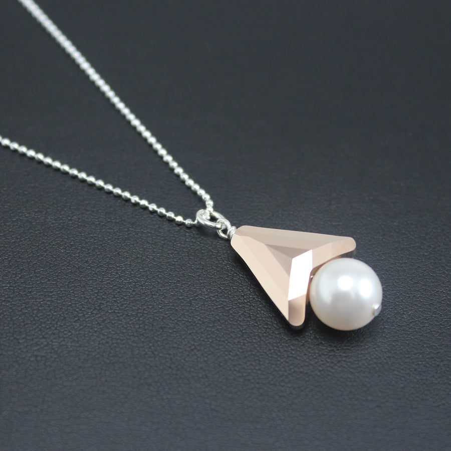 Contemporary Swarovski Crystal Symmetrical/Pearl Necklace