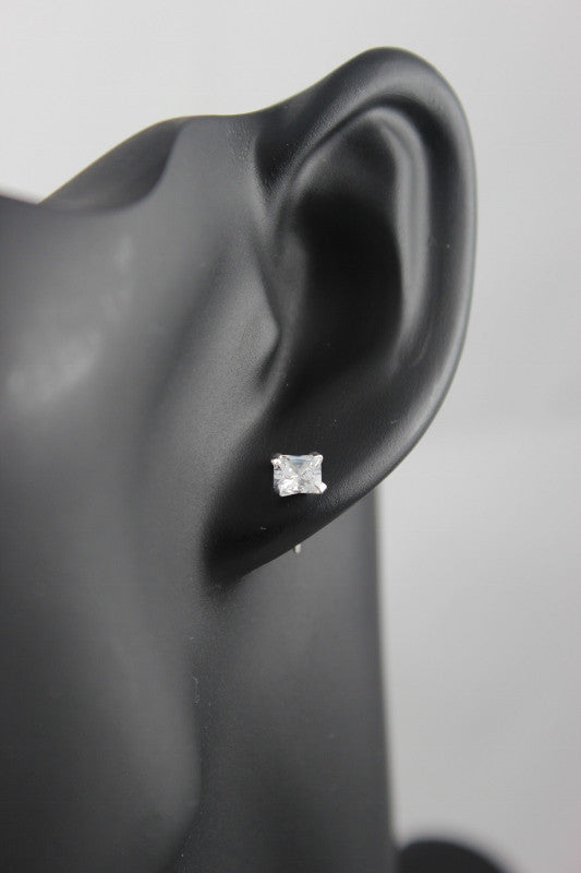 Ballet Studs (Princess) Sterling Silver 5mm