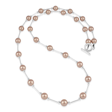 Vogue Powdered Almond Pearl Long Neckace