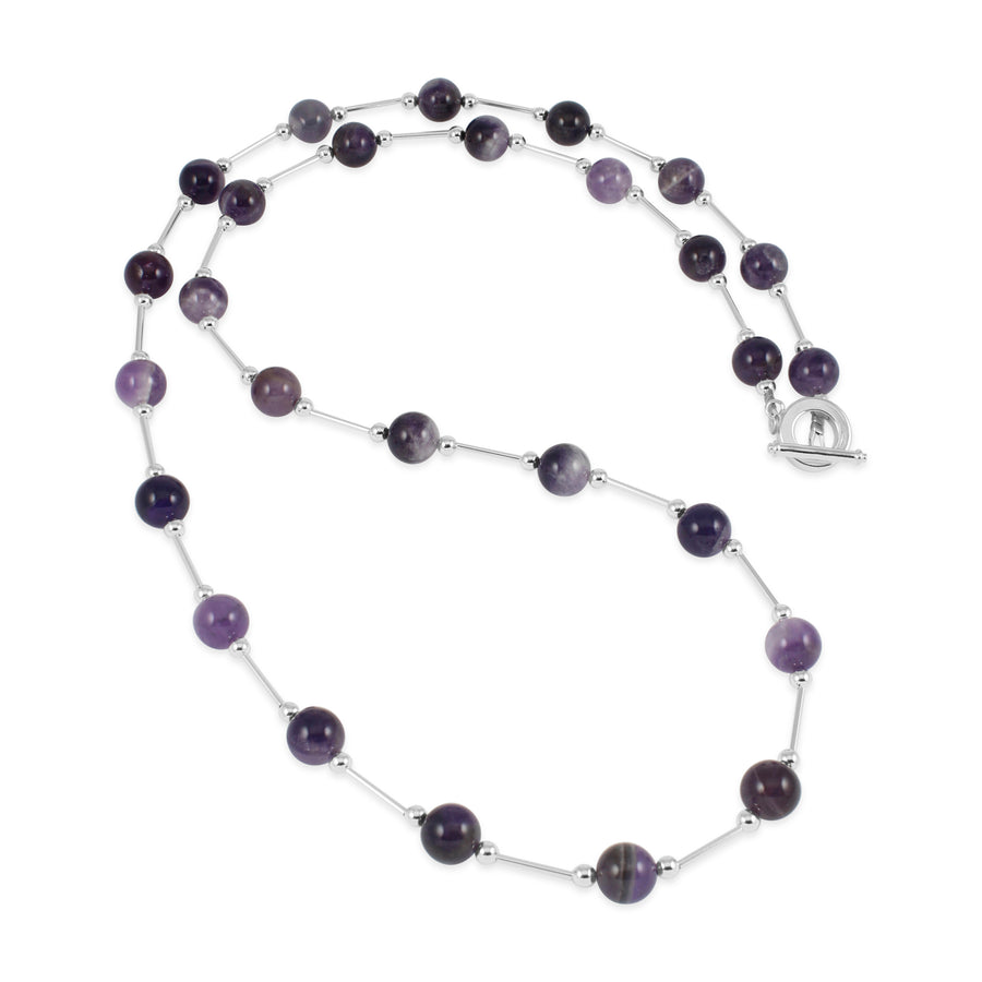 Vogue Amethyst Long Necklace