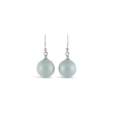 Ballet Bud Drop Pearl Earrings (Pastel Blue)