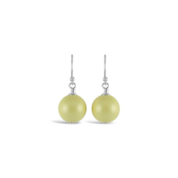 Ballet Bud Drop Pearl Earrings (Pastel Yellow)