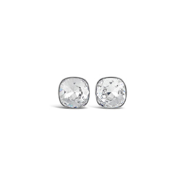 Ceroc Sterling Silver 10mm Stud Earrings (Crystal Clear)