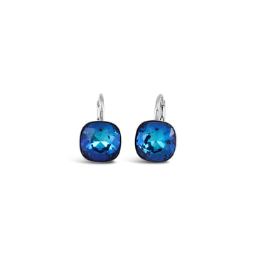 Ceroc Sterling Silver Lever Back 10mm Earrings (Bermuda Blue)