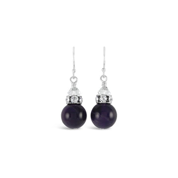 Classical Gemstone Luxe Earrings (Amethyst)