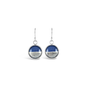 Samba Silver Linings Drop Earrings (Silver & Royal Blue)