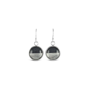 Samba Silver Linings Drop Earrings (Silver & Charcoal) - New Design