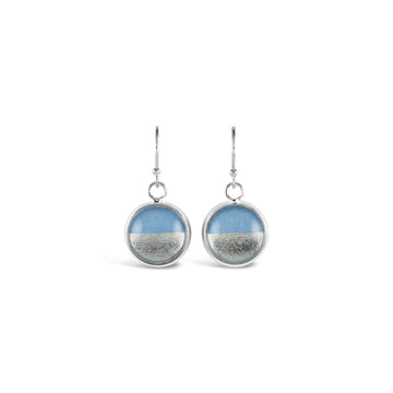 Samba Silver Linings Drop Earrings (Silver & Baby Blue) - New Design