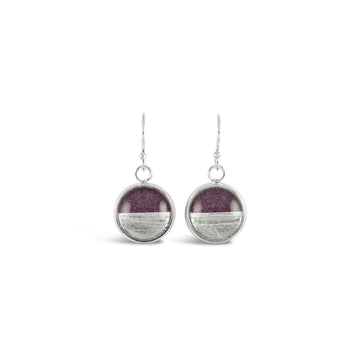 Samba Silver Linings Drop Earrings (Silver & Burgundy)