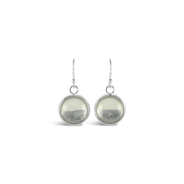 Samba Silver Linings Drop Earrings (Silver & Ivory)