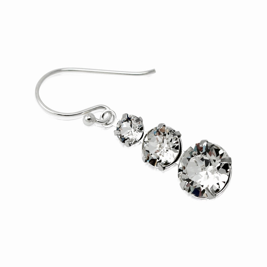 Cha-cha-cha Swarovski Crystal 3 Tier Drop Earrings