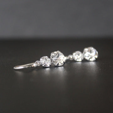 Cha-cha Swarovski Crystal 2 Tier Drop Earrings