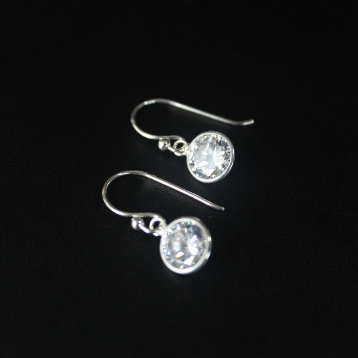 Ballet (Brilliant) Sterling Silver Earrings 9mm