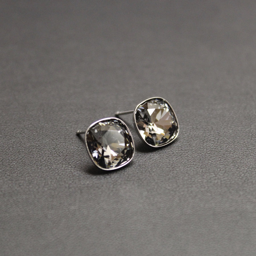 Ceroc Sterling Silver 10mm Stud Earrings (Silver Nights)