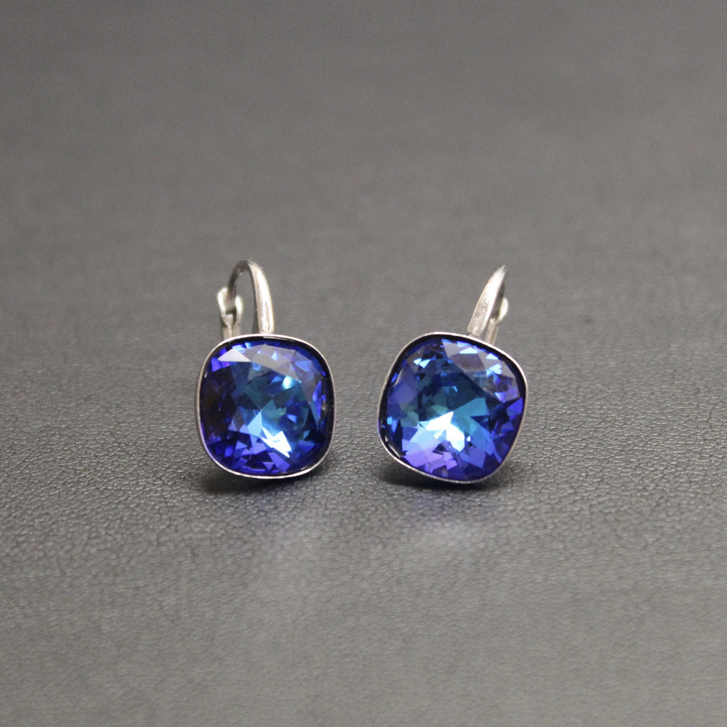 6fe45a736 Ceroc Sterling Silver Lever Back 10mm Earrings (Bermuda Blue ...