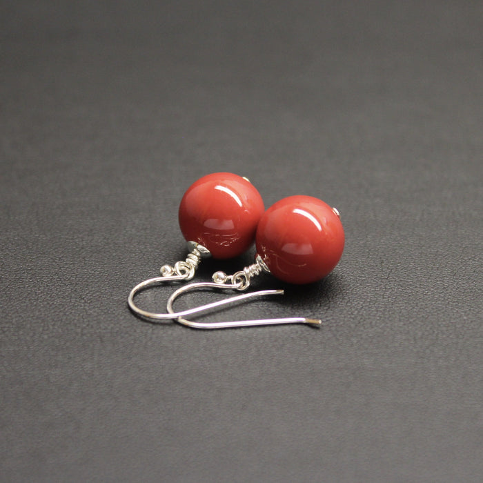 Vogue Bud Drop Earrings (Coral)