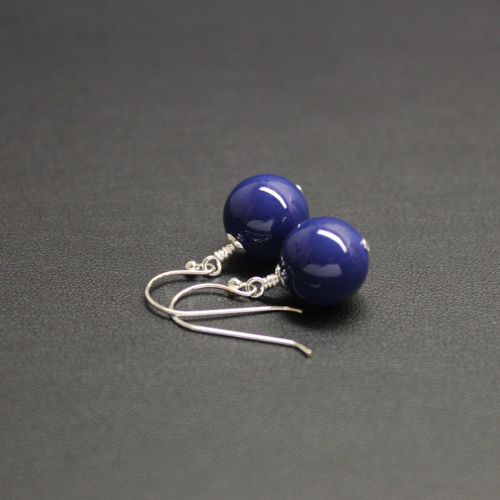 Vogue Bud Drop Earrings (Blue Lapis)