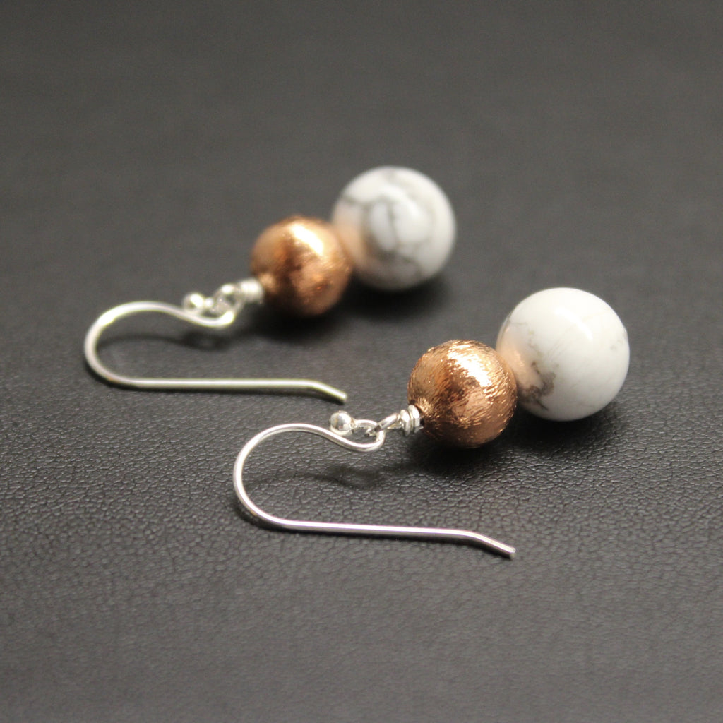 Bolero Copper & Marble Howlite Duo Earrings
