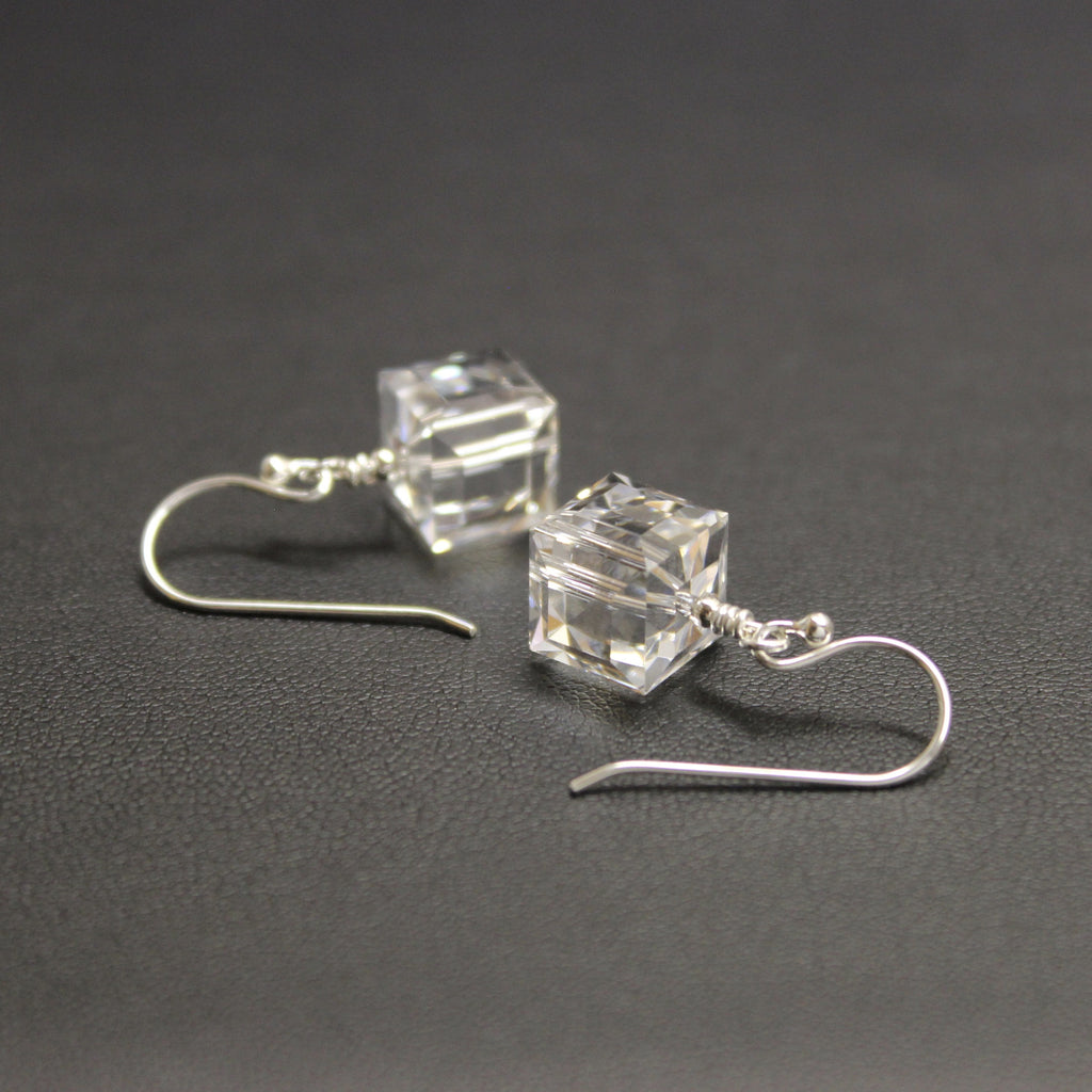 Tango Swarovski Crystal Cube Earrings